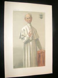 Vanity Fair Print 1878 Pope Leo XIII, Clergy
