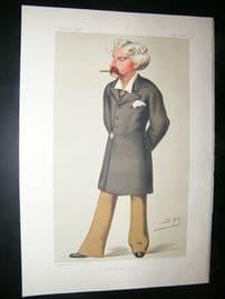 Vanity Fair Print: 1879 Francis Bret Harte, Literary