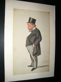 Vanity Fair Print 1879 Thomas Chenery, Newpaperman