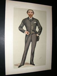 Vanity Fair Print 1881 William L.A Burdett-Coutts Bartlett