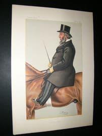 Vanity Fair Print 1882 John Whitaker Ellis. Mayor, Sport Rider