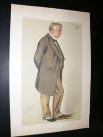 Vanity Fair Print 1883 Earl of Stair, Spy Cartoon