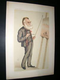 Vanity Fair Print 1884 Carl Haag, Artist