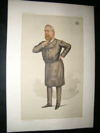 Vanity Fair Print: 1885 Earl of Limerick, Irish Freemason