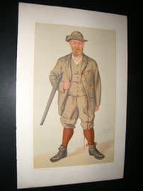 Vanity Fair Print 1885 Richard John Lloyd, Price of Rhiwlas, Game Hunter