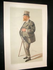 Vanity Fair Print 1885 Samuel Charles Allsopp, Spy Cartoon