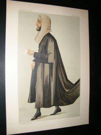 Vanity Fair Print 1887 Arthur Wellesley Peel, Legal Speaker