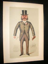 Vanity Fair Print 1887 Col. Francis Duncan, Caricature