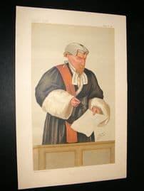 Vanity Fair Print 1887 Justice W. U. Field, Judge