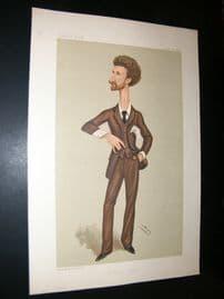 Vanity Fair Print 1888 Robert Bontine Cunninghame Graham, Literary