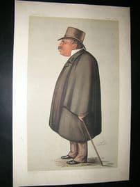 Vanity Fair Print: 1889 John Corlett, Newspaperman