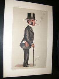 Vanity Fair Print 1890 Robert Jardine, Turf Devotee