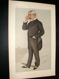 Vanity Fair Print 1890 Sir Myles Fenton