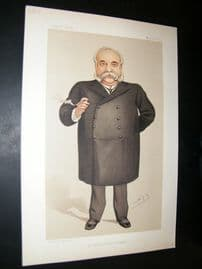 Vanity Fair Print 1890 William Christopher Leng, Newspapermen