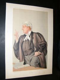 Vanity Fair Print 1891 Charles Frederick Gill, Legal
