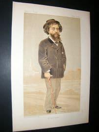 Vanity Fair Print 1893 Alphonse Daudet, Literary