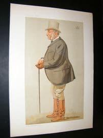 Vanity Fair Print 1893 Duke of Beaufort, Turf Devotee