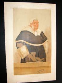 Vanity Fair Print 1893 Lewis William Cane, Legal