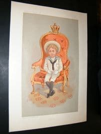 Vanity Fair Print 1893 The King of Spain, Royal