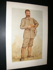 Vanity Fair Print 1893 Walter Winans, Game Hunter