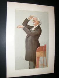 Vanity Fair Print 1895 August Friedrich Manns, Music