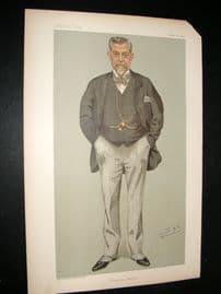 Vanity Fair Print 1895 James Thompson, Railwayman