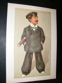 Vanity Fair Print 1896 Andrew Barclay Walker, Yachting