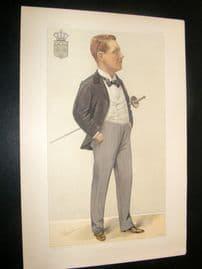 Vanity Fair Print 1897 Prince Henry of Orleans, Royal