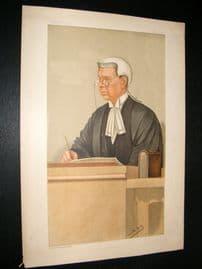 Vanity Fair Print 1897 Sir John Compton Lawrence, Judge
