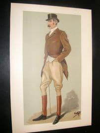 Vanity Fair Print 1898 Capt. David Longfield Beatty, Sport Rider