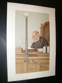 Vanity Fair Print 1899 Franklin Lushington, Legal