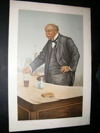Vanity Fair Print: 1899 Lord Rayleigh, Caricature