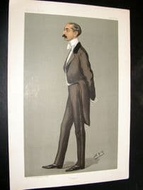 Vanity Fair Print 1899 Reginald Ward, Banker
