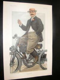 Vanity Fair Print 1899 The Comte de Dion, Automobile
