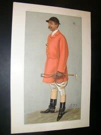 Vanity Fair Print 1899 Viscount Galway, Fox Hunting