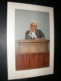 Vanity Fair Print 1900 Justice George Farwell, Legal Judge
