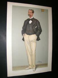Vanity Fair Print 1901 Thomas Johnstone Lipton, Yachting