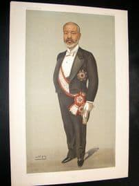 Vanity Fair Print 1902 Viscount Tadusu Hayashi