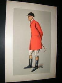 Vanity Fair Print 1906 Edgar Lubbock, Fox Hunter