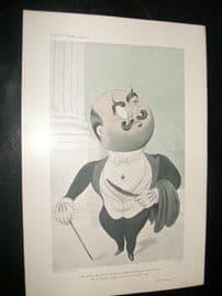 Vanity Fair Print 1907 Marquess de Soveral, By Beerbohm