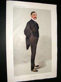 Vanity Fair Print 1908 ORH Bury, Rail