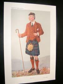 Vanity Fair Print 1908 Peter Jeffrey Mackie, Scotsman