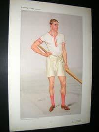 Vanity Fair Print 1908 Raymond Etherington-Smith, Rower
