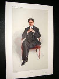 Vanity Fair Print 1909 Herbert Atkinson Barker, Doctor