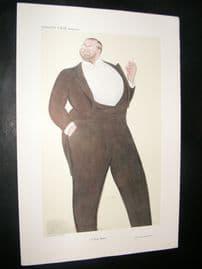 Vanity Fair Print 1909 John Singer Sargent, Artist, By Beerbohm