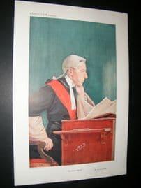 Vanity Fair Print 1909 Lord Justice Coleridge, Legal