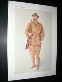 Vanity Fair Print 1909 Walter Winans, Game Hunter