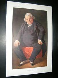 Vanity Fair Print: 1910 Ernest Renan, Literary
