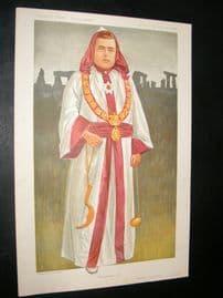 Vanity Fair Print 1911 McAuliffe, Stonehenge, Druid