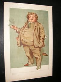 Vanity Fair Print 1912 Gilbert Keith Chesterton, Literary
